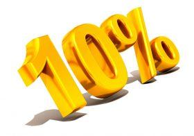 10 % Korting in oktober